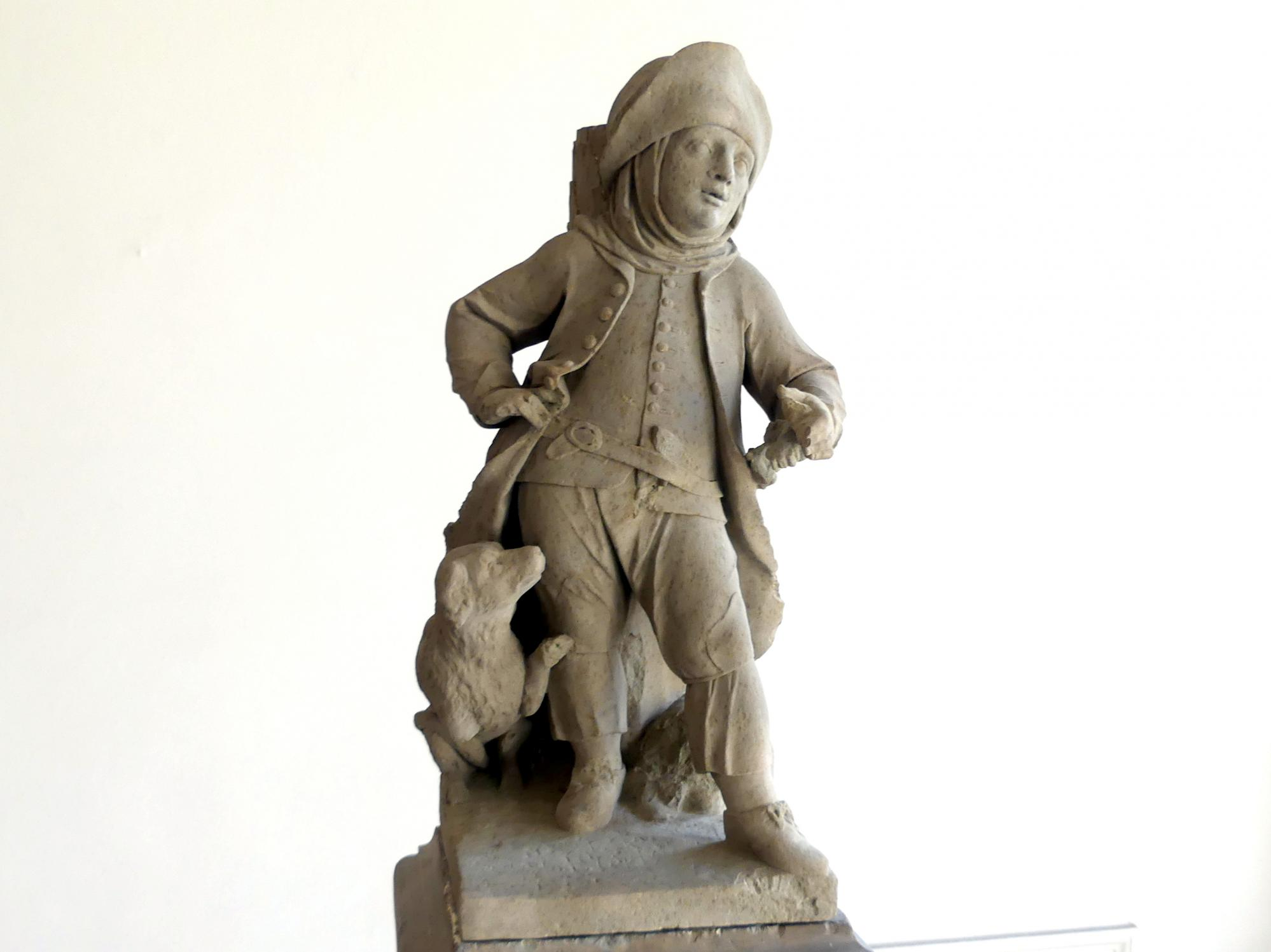 Johann Peter Wagner: Knabe mit Hund, Reisig tragend (Besenbinder ?), um 1775, Bild 2/3