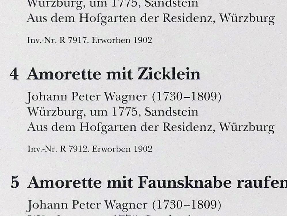 Johann Peter Wagner: Amorette mit Zicklein, um 1775, Bild 2/2
