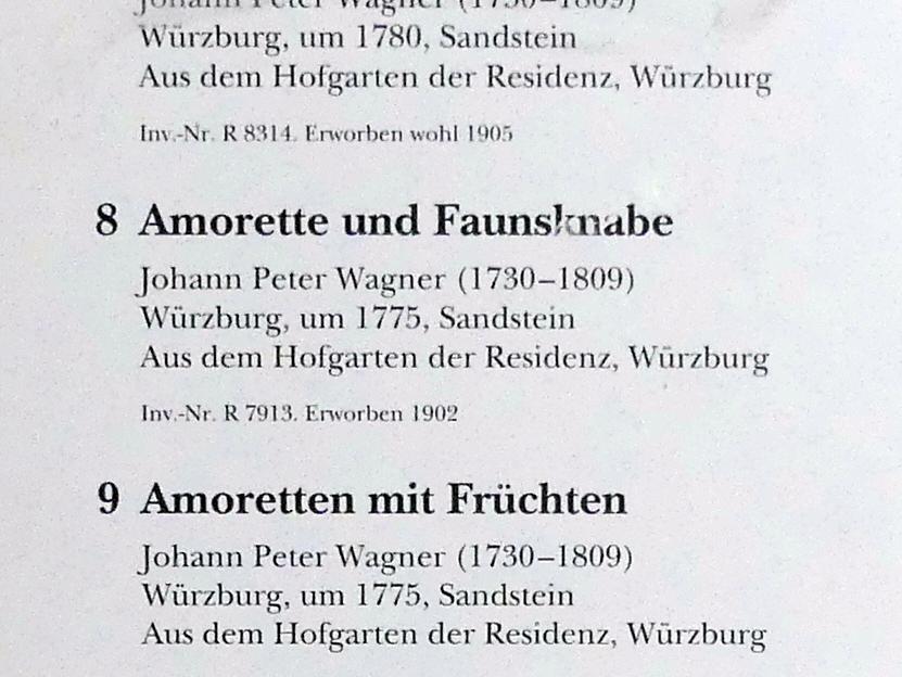 Johann Peter Wagner: Amorette und Faunsknabe, Um 1775