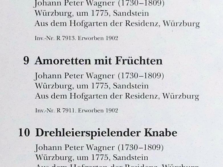 Johann Peter Wagner: Amoretten mit Früchten, um 1775