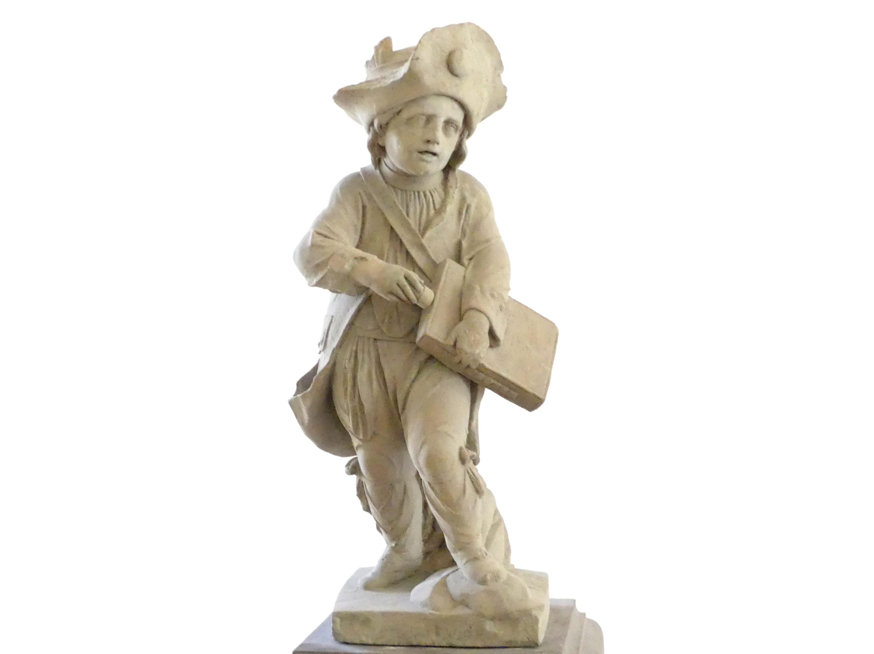 Johann Peter Wagner: Drehleierspielender Knabe, um 1775