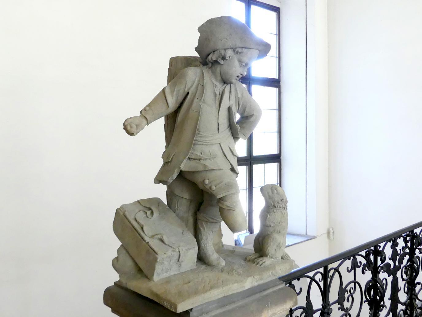 Johann Peter Wagner: Knabe mit einem tanzenden Murmeltier, um 1775