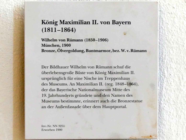 Wilhelm von Rümann: König Maximilian II. von Bayern (1811-1864), 1900