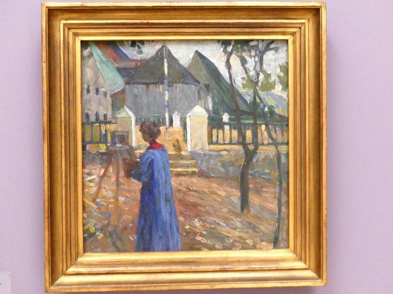 Wassily Kandinsky: Kallmünz - Gabriele Münter beim Malen II, 1903