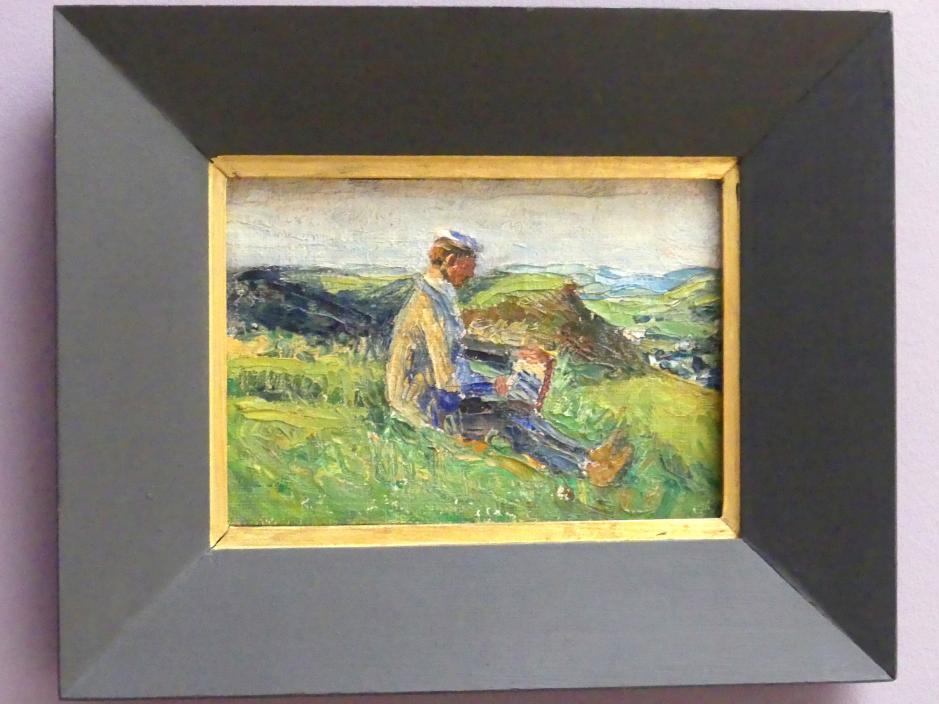 Gabriele Münter: Kandinsky beim Landschaftsmalen, 1903