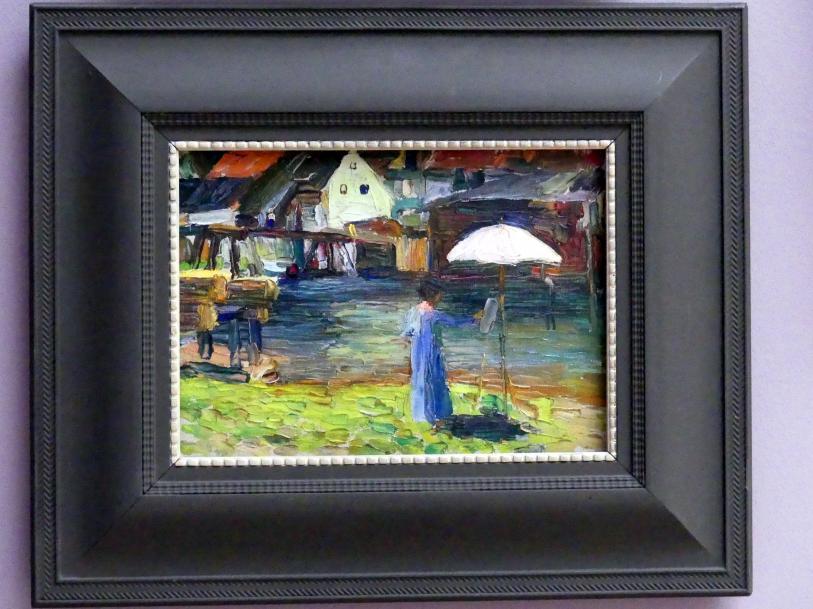 Wassily Kandinsky: Kallmünz - Gabriele Münter beim Malen I, 1903