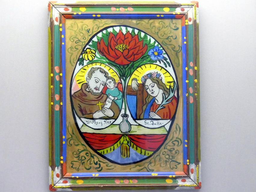 Gabriele Münter: Die heiligen Franz Seraph und Julie, um 1910