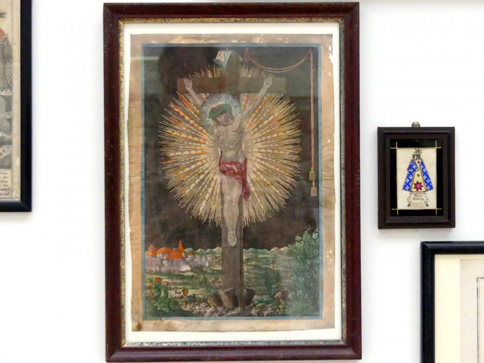 Johann Georg Frehling: Andachtsbild: Christus am Kreuz, um 1780