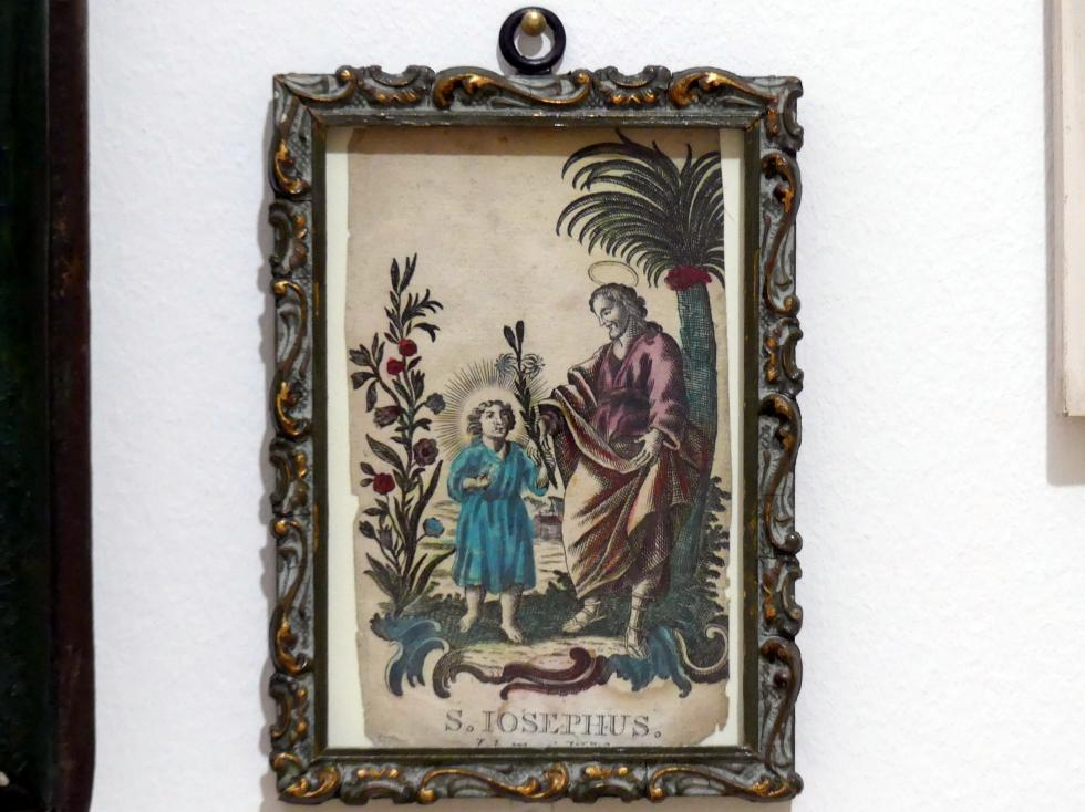 Johann Martin Will: Kleines Andachtsbild: Hl. Joseph mit Jesusknabe, 2. Hälfte 18. Jhd.