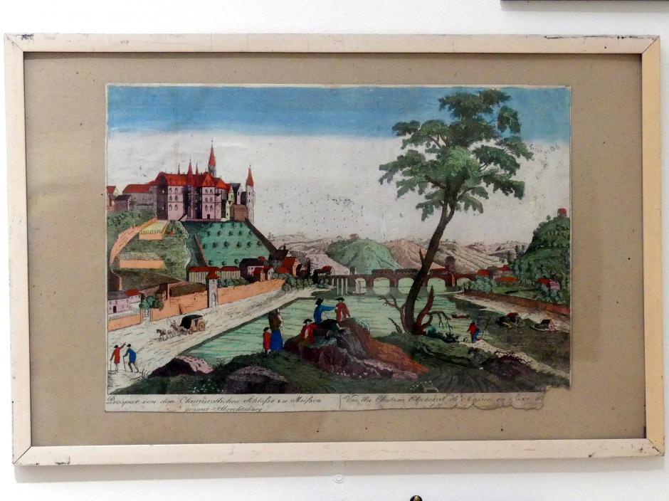 Guckkastenbild: Ansicht von Meissen, um 1770