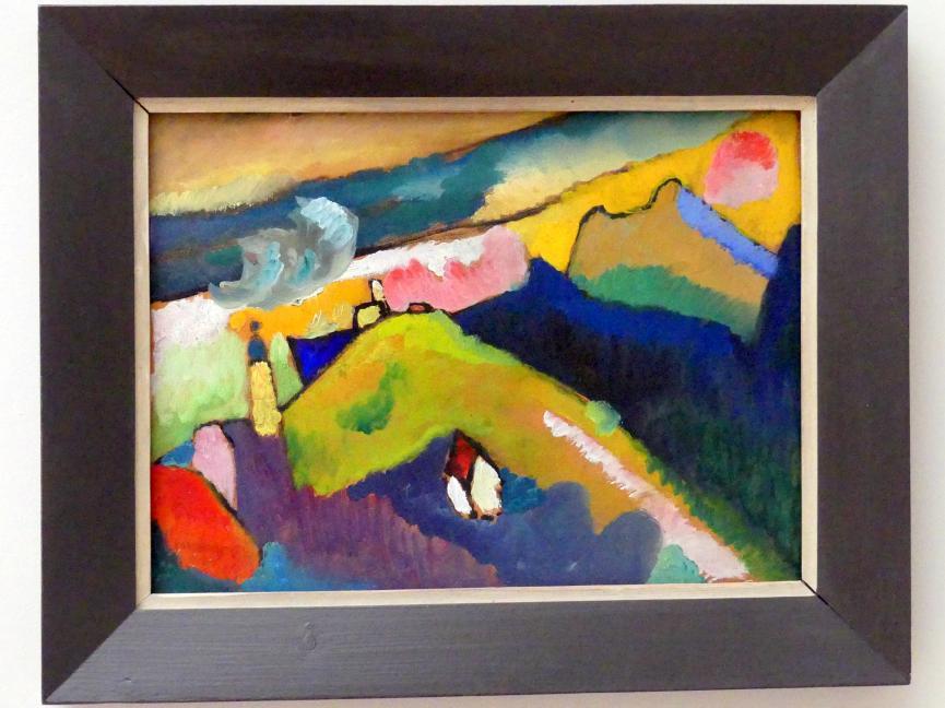 Wassily Kandinsky: Berglandschaft mit Kirche, 1910
