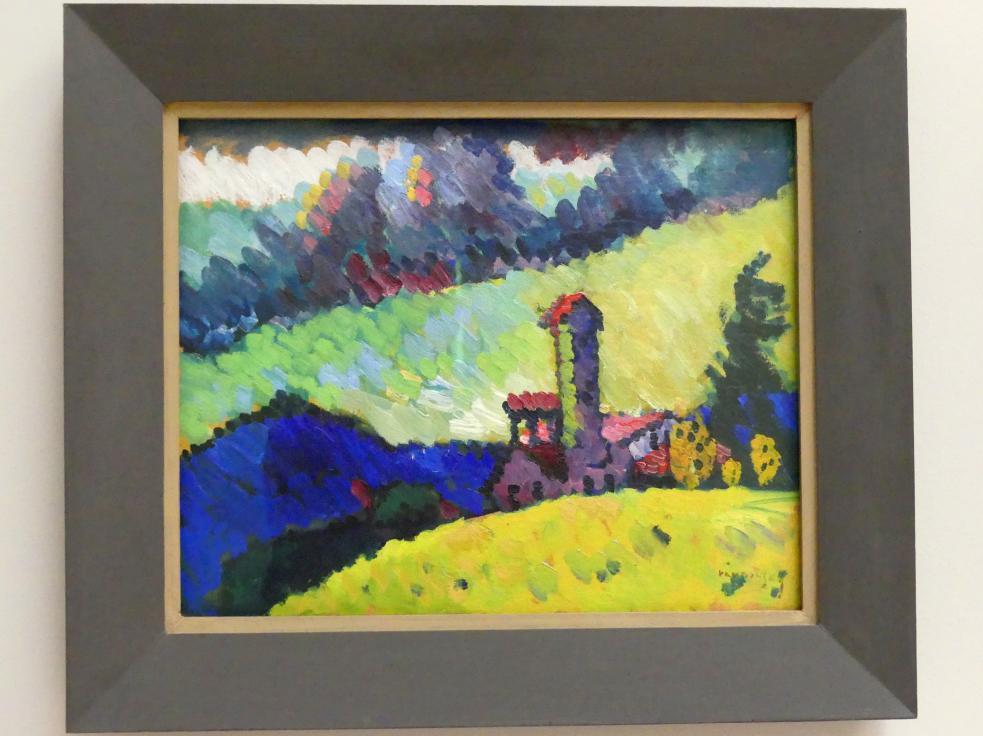 Wassily Kandinsky: Murnau - Studie für Landschaft mit Turm, 1908