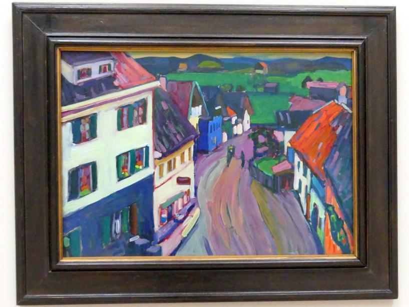 Wassily Kandinsky: Murnau - Blick aus dem Fenster des Griesbräu, 1908