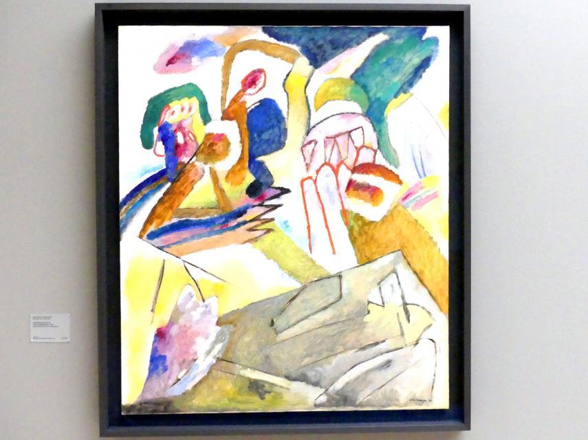 Wassily Kandinsky: Improvisation 18 (mit Grabstein), 1911