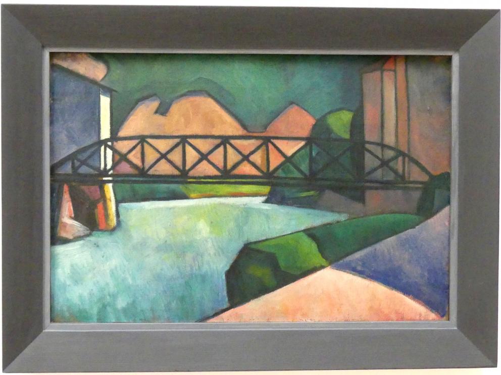 Alexander Kanoldt: Eisackbrücke, 1911