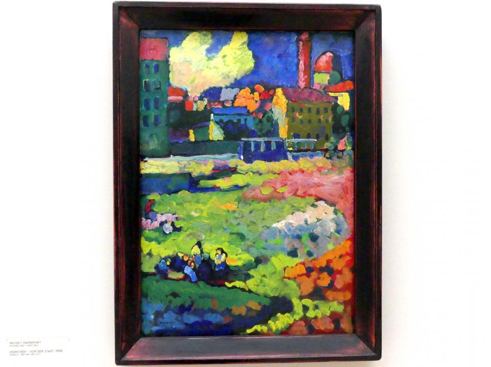 Wassily Kandinsky: München - Vor der Stadt, 1908