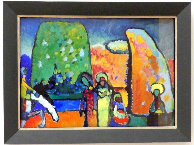 """Wassily Kandinsky: Studie zu """"Improvisation 2 (Trauermarsch)"""", 1909"""