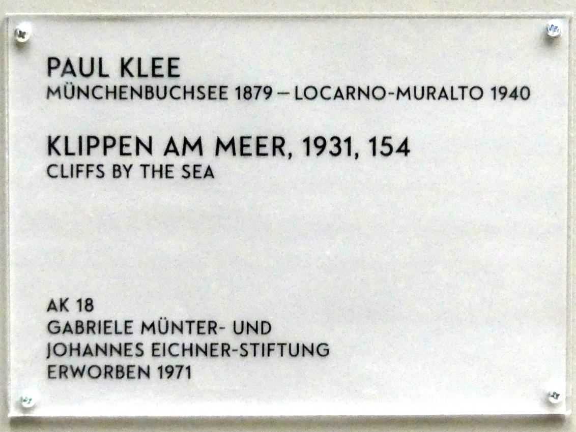 Paul Klee: Klippen am Meer, 1931, Bild 2/2