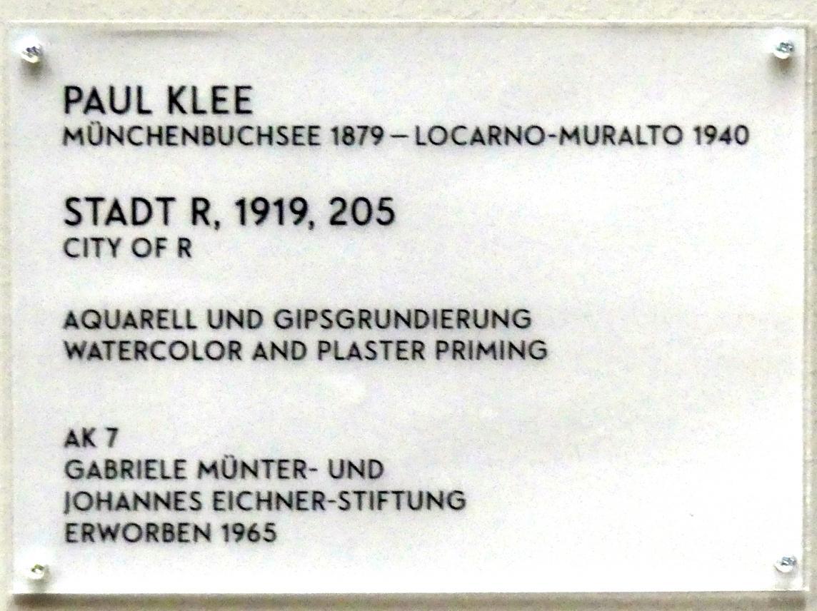 Paul Klee: Stadt R, 1919, Bild 2/2