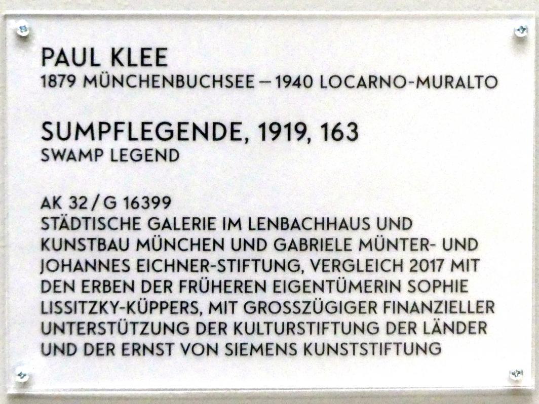 Paul Klee: Sumpflegende, 1919, Bild 2/2