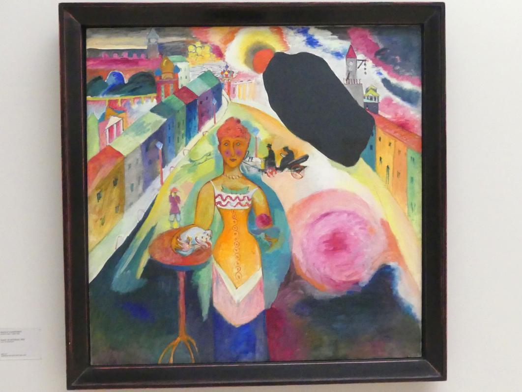 Wassily Kandinsky: Dame in Moskau, 1912