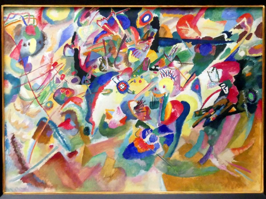 """Wassily Kandinsky: Entwurf 3 zu """"Komposition VII"""", 1913"""