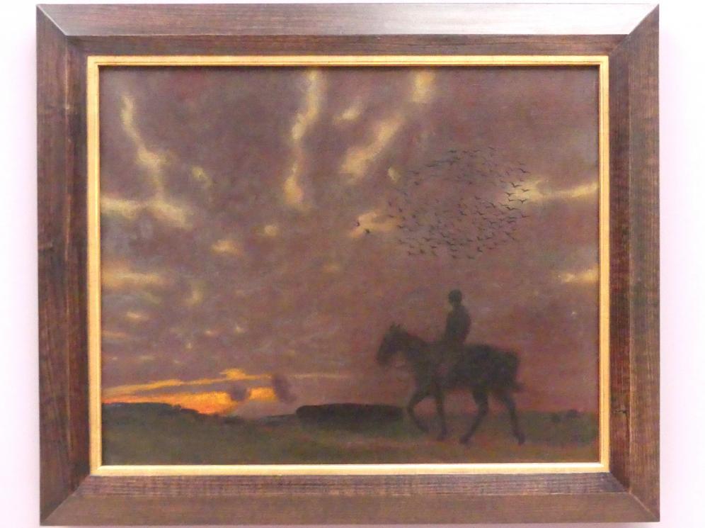 Franz von Stuck: Herbstabend mit Reiter, 1893
