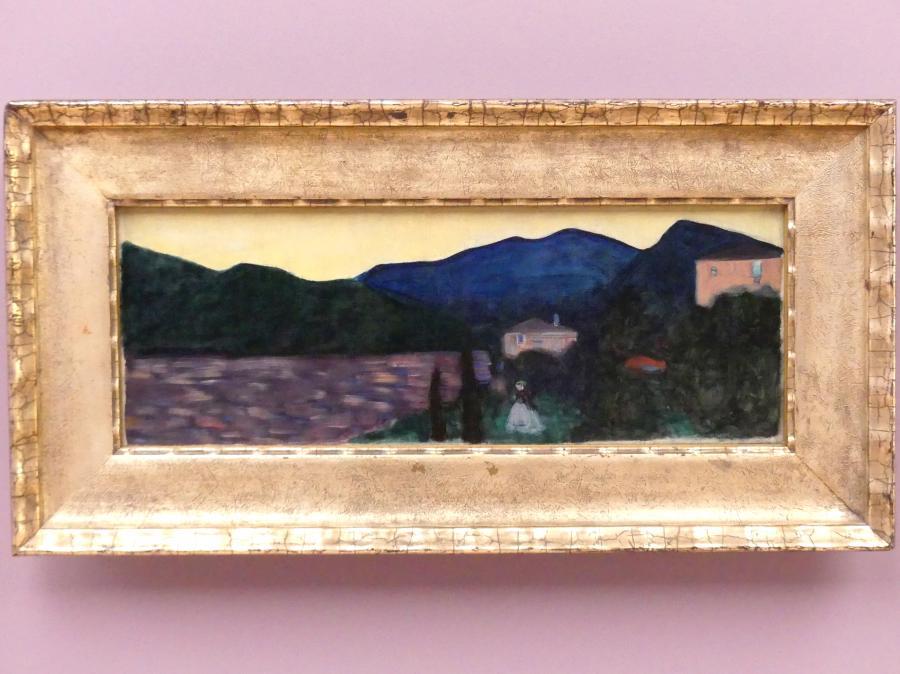 Wassily Kandinsky: Bergige Landschaft mit See, um 1902