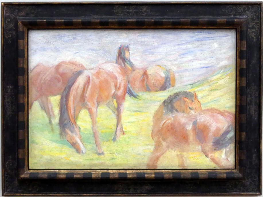 Franz Marc: Weidende Pferde I, 1910