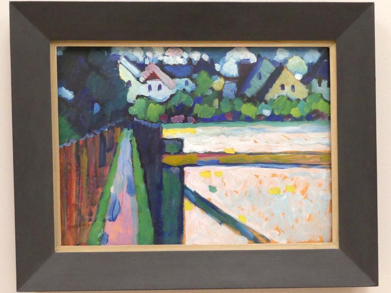 Wassily Kandinsky: Murnau - Fussweg und Häuser, 1909