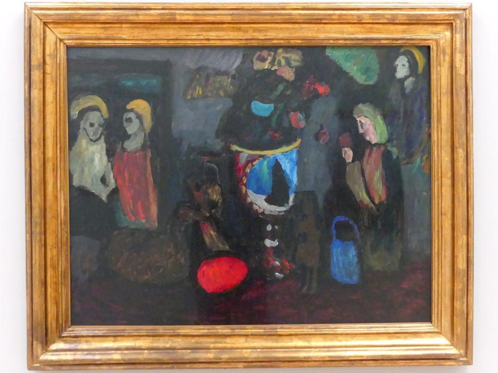 Gabriele Münter: Dunkles Stillleben (Geheimnis), 1911