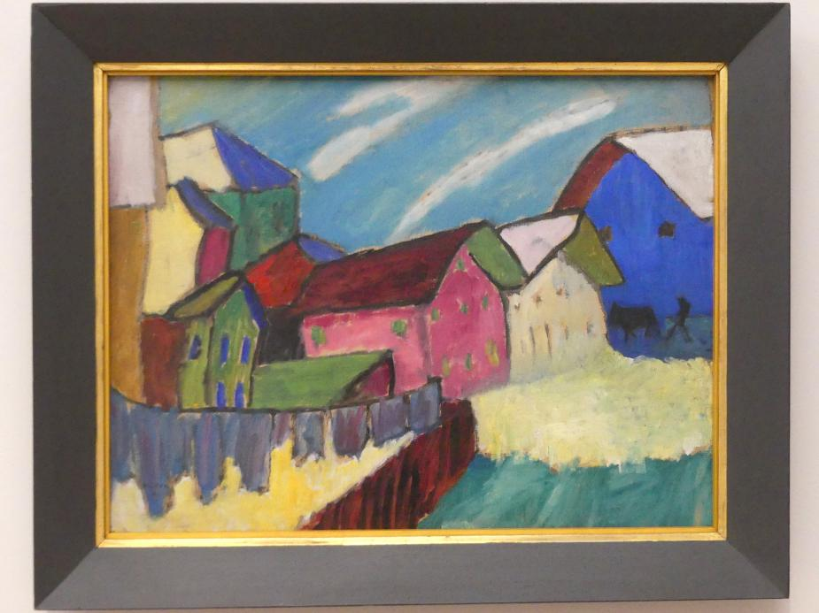 Gabriele Münter: Dorfstrasse im Winter, 1911