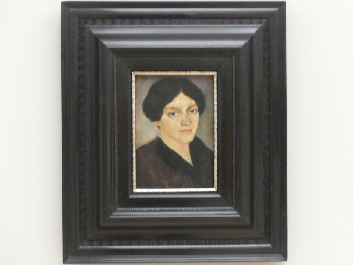 August Macke: Porträt Elisabeth Macke, 1910