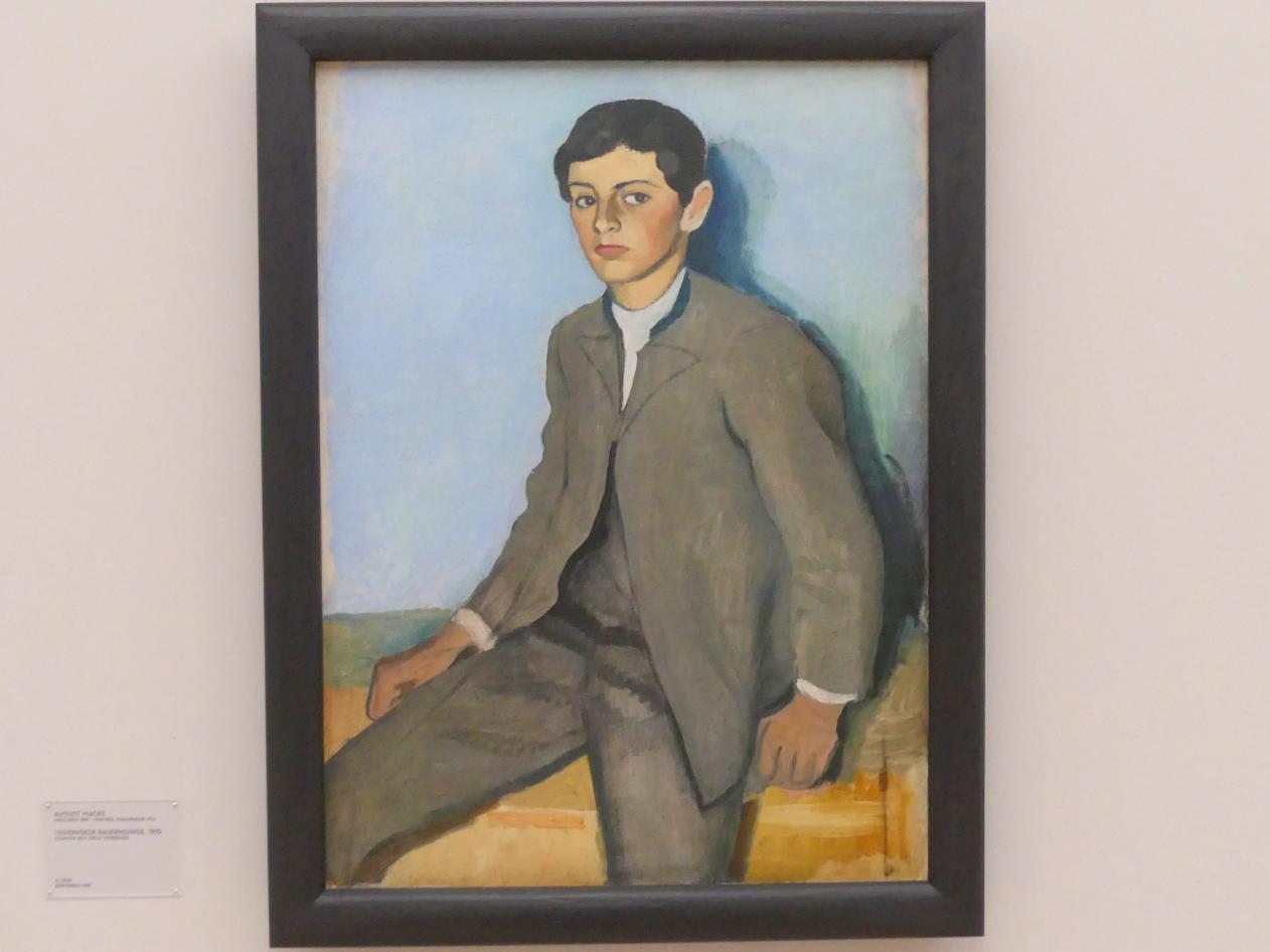 August Macke: Tegernseer Bauernjunge, 1910