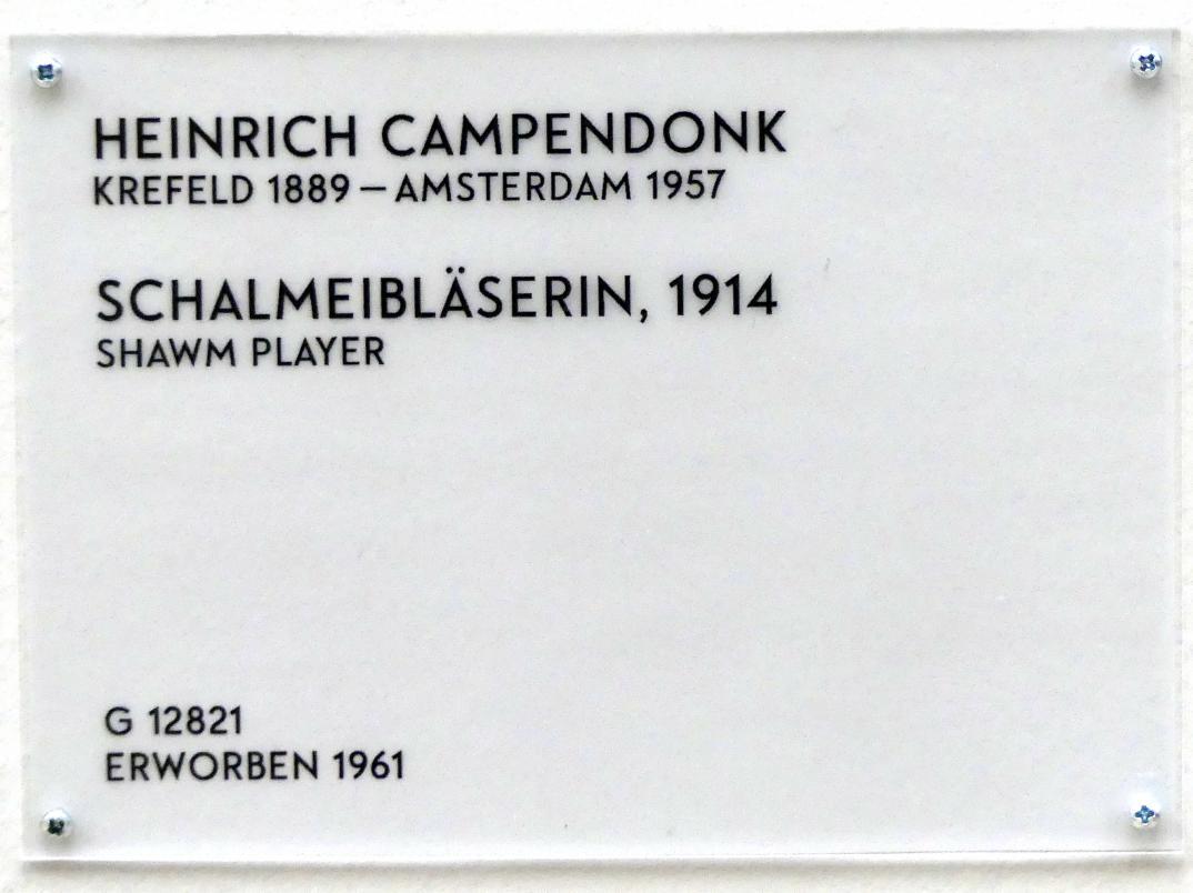 Heinrich Campendonk: Schalmeibläserin, 1914