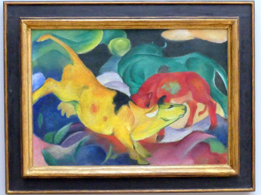 Franz Marc: Kühe, Rot, Grün, Gelb, 1911