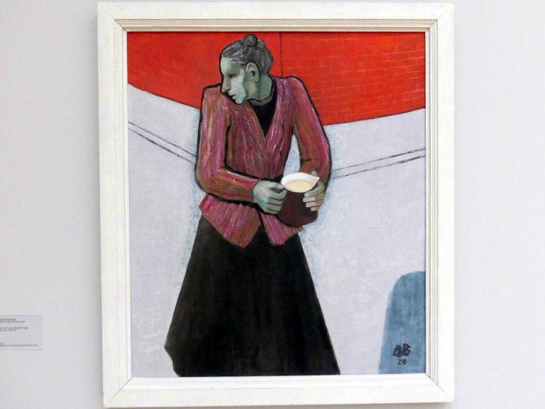 Albert Burkart: Frau mit Milchtopf, 1929