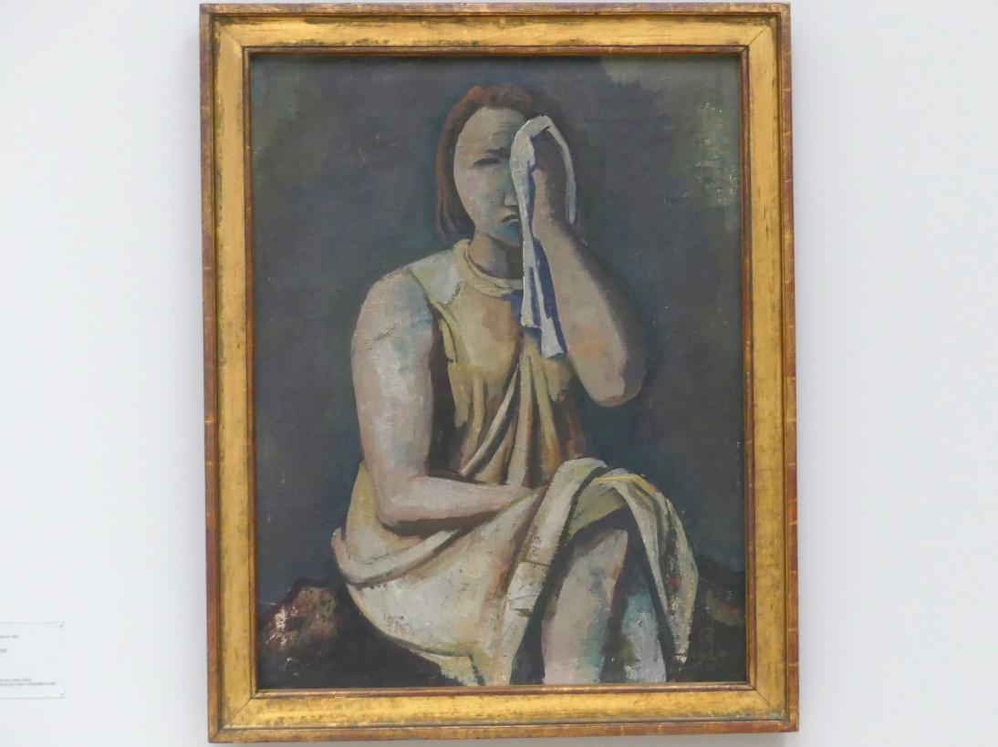 Karl Hofer (Carl Hofer): Weinende, 1929