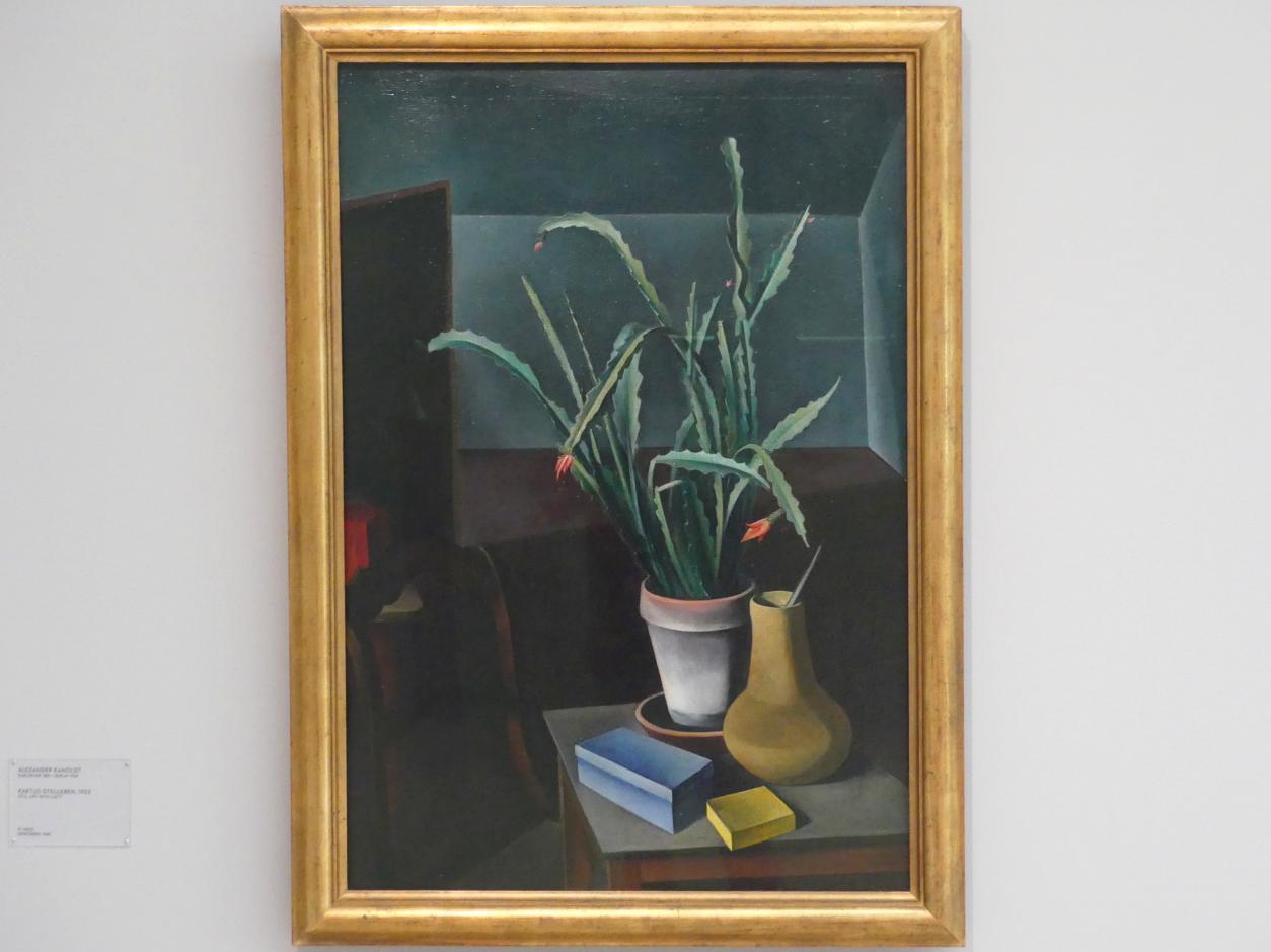 Alexander Kanoldt: Kaktus-Stillleben, 1923