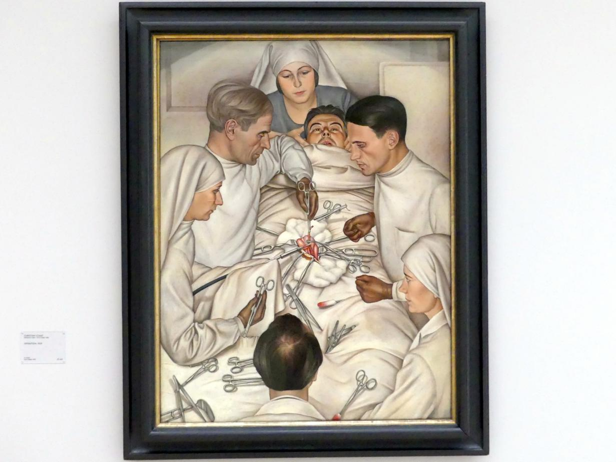 Christian Schad: Operation, 1929