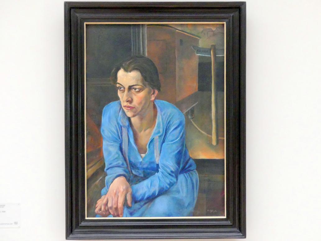 Rudolf Schlichter: Helene Weigel, 1928