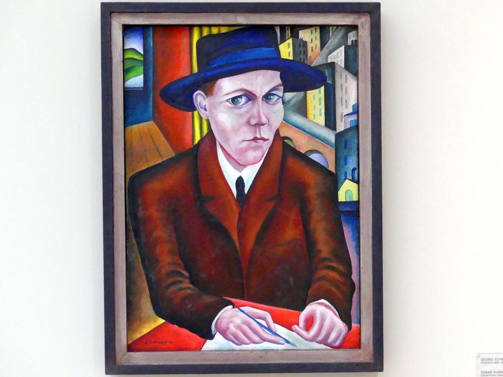 Georg Schrimpf: Oskar Maria Graf, 1918, Bild 1/2