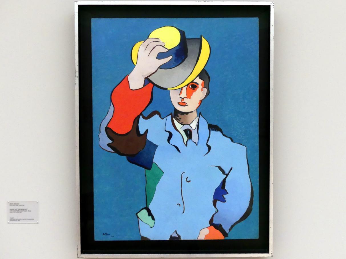 Jean Hélion: Mann mit gelbem Hut (Le coup de chapeau), 1944