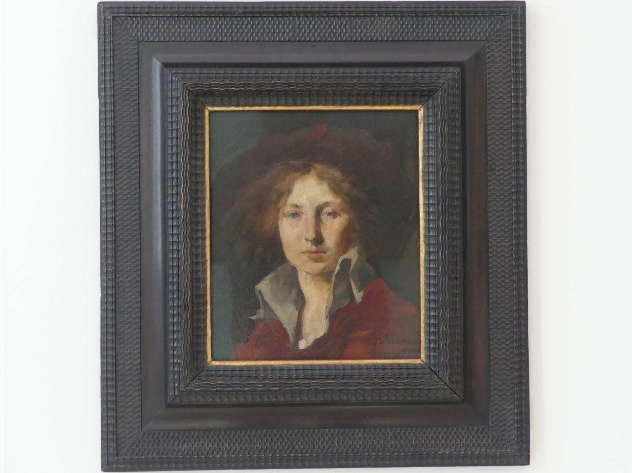 Hugo von Habermann: Weiblicher Kopf, 1875