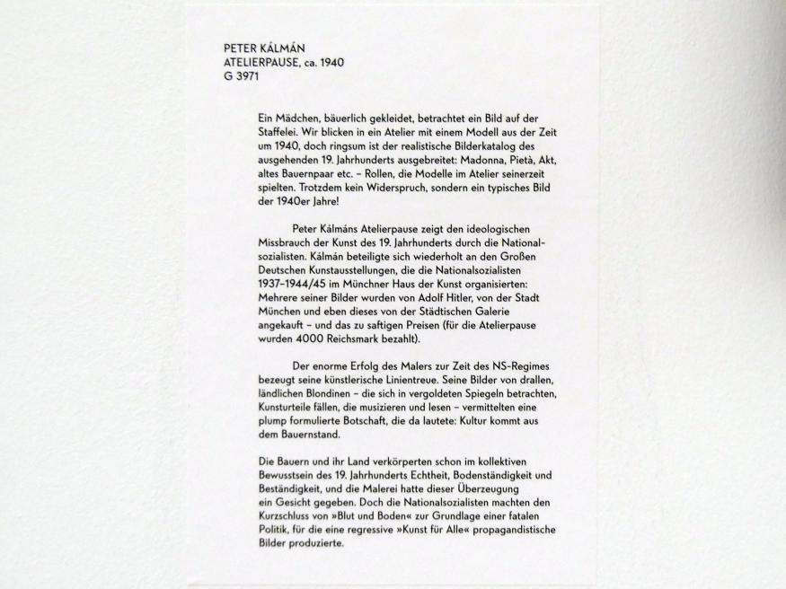 Péter Kálmán: Atelierpause, um 1940, Bild 2/2