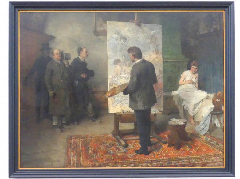Mathias Schmid: Die Feuererb'schau, um 1888