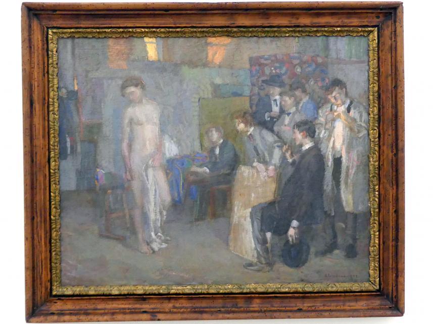 Christian Landenberger: Atelierszene, 1910
