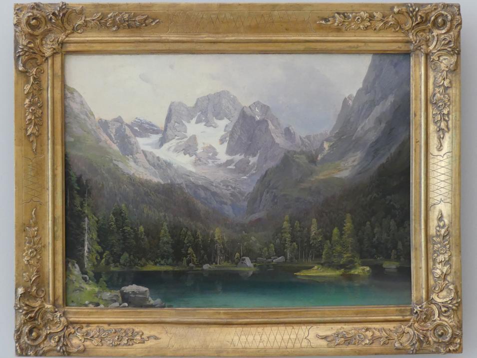 Karl Millner: Vorderer Gosausee mit Dachstein, um 1855