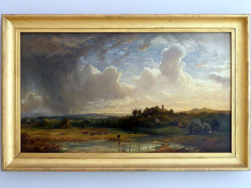 Eduard Schleich der Ältere: Oberbayerische Flusslandschaft bei Gewitter, um 1860
