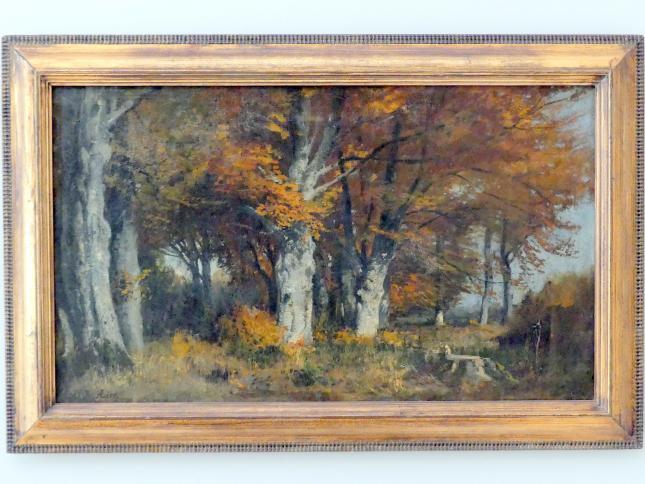 Adolf Heinrich Lier: Buchenwald im Herbst, um 1874